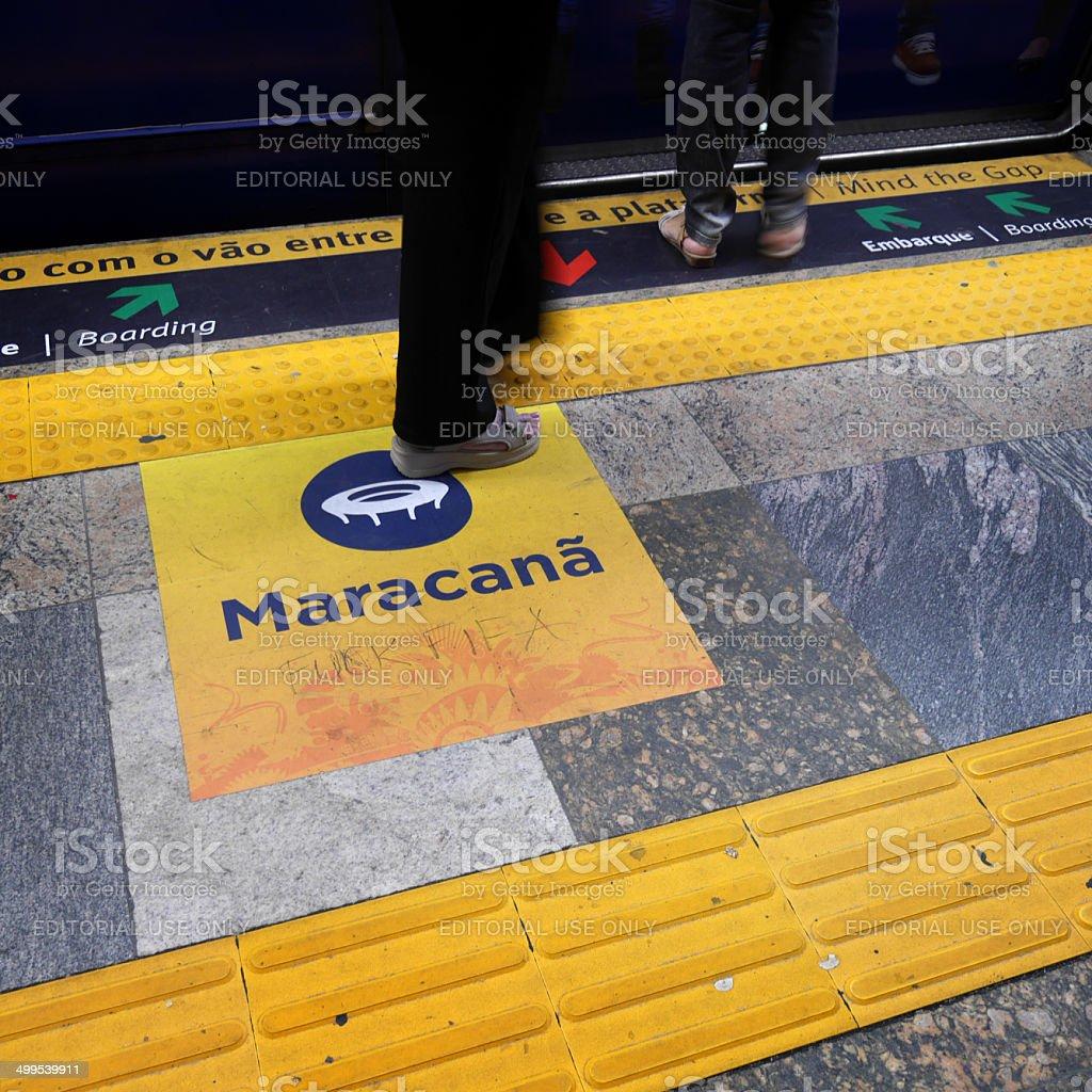 Metro travel to the Maracana stock photo