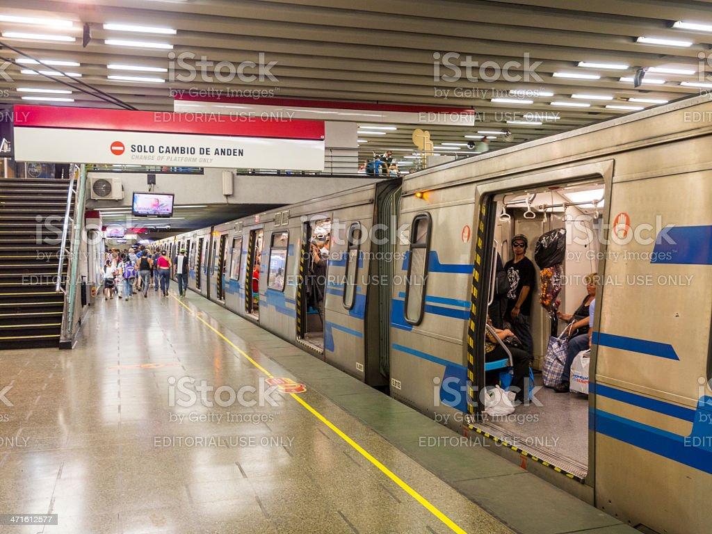 Metro Valparaiso train, Chile stock photo