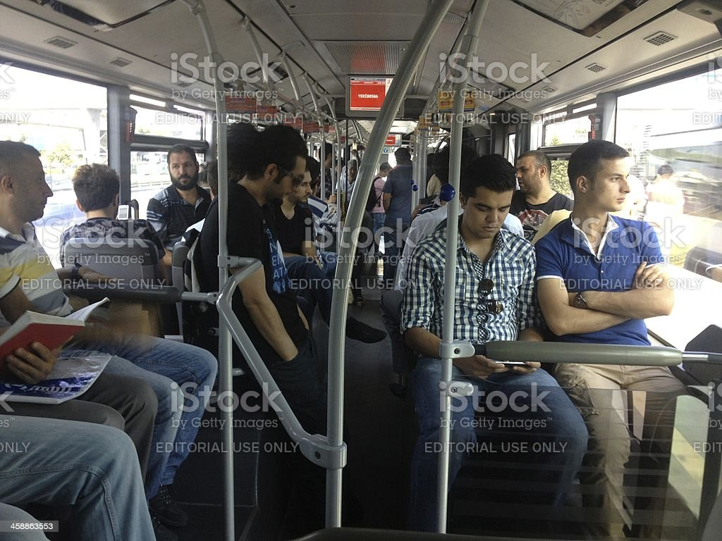 MetroBus in Istanbul stock photo