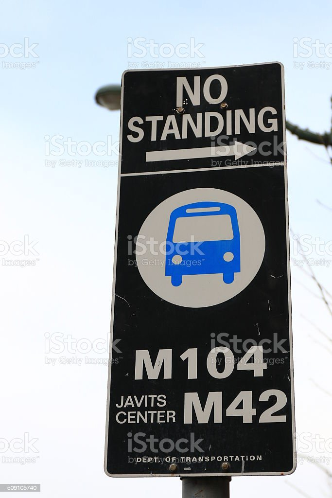 Metrobus sign stock photo
