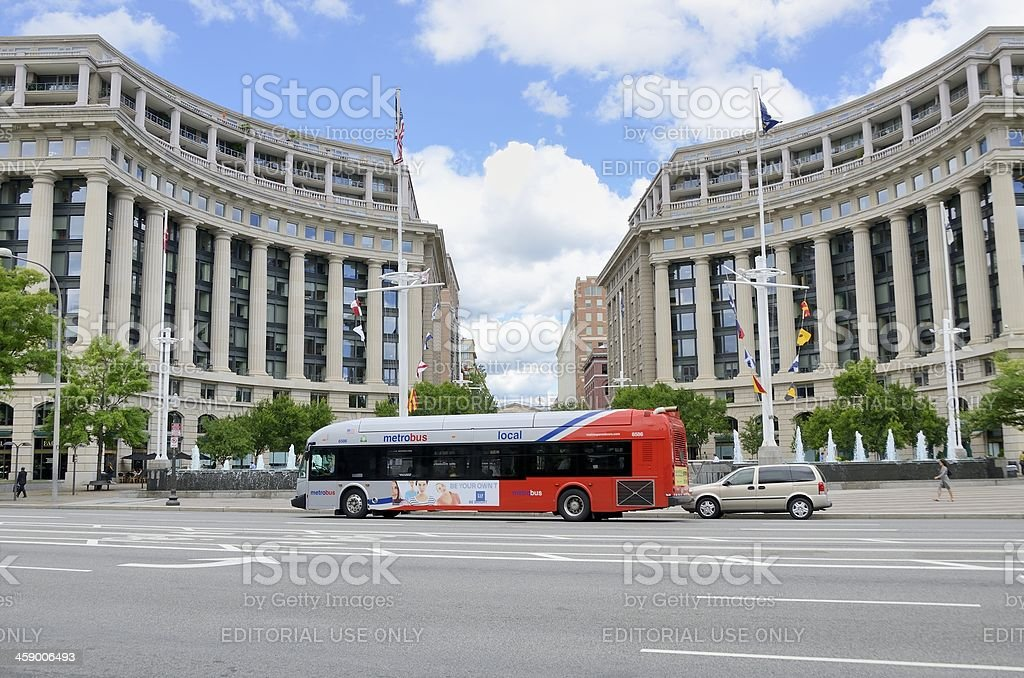 Metrobus Washington DC stock photo