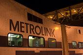 Metrolink commuter train in Orange County