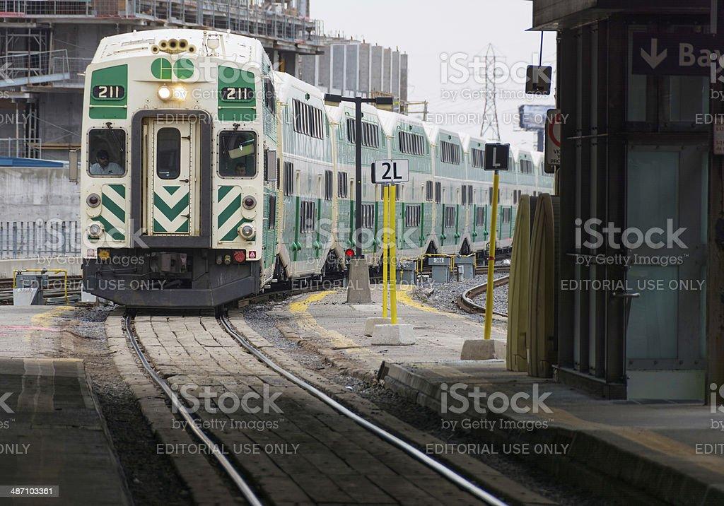Metrolinx Go Transit in Toronto,Canada stock photo