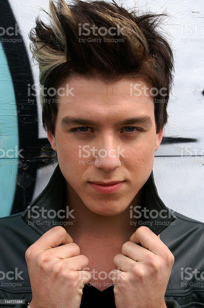 Metroman - extreme hair stock photo