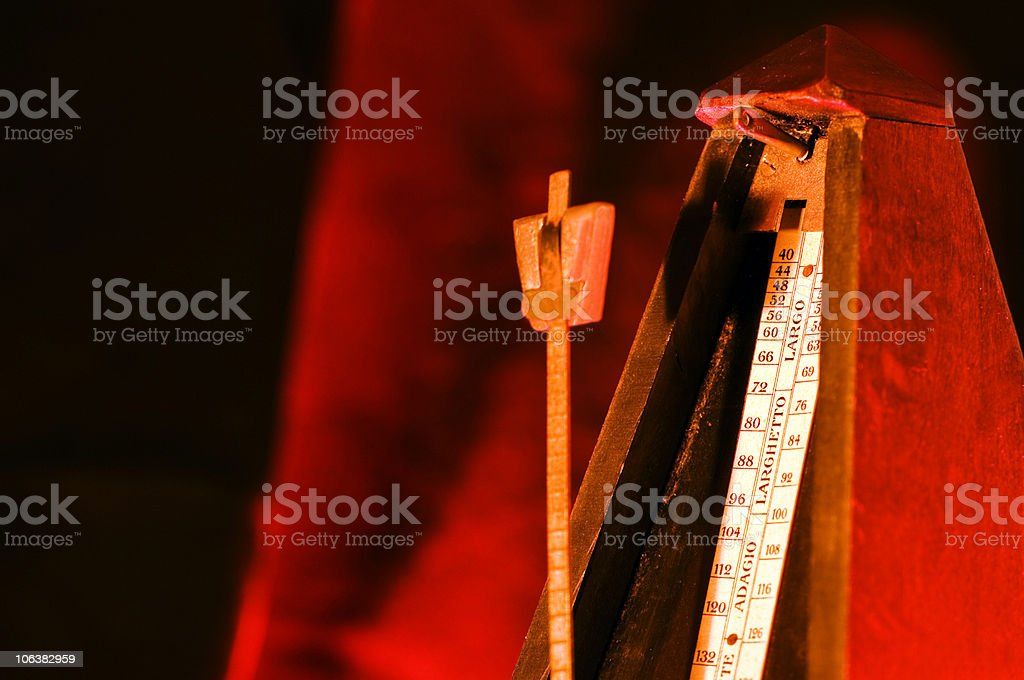 Metronome. Color Image royalty-free stock photo