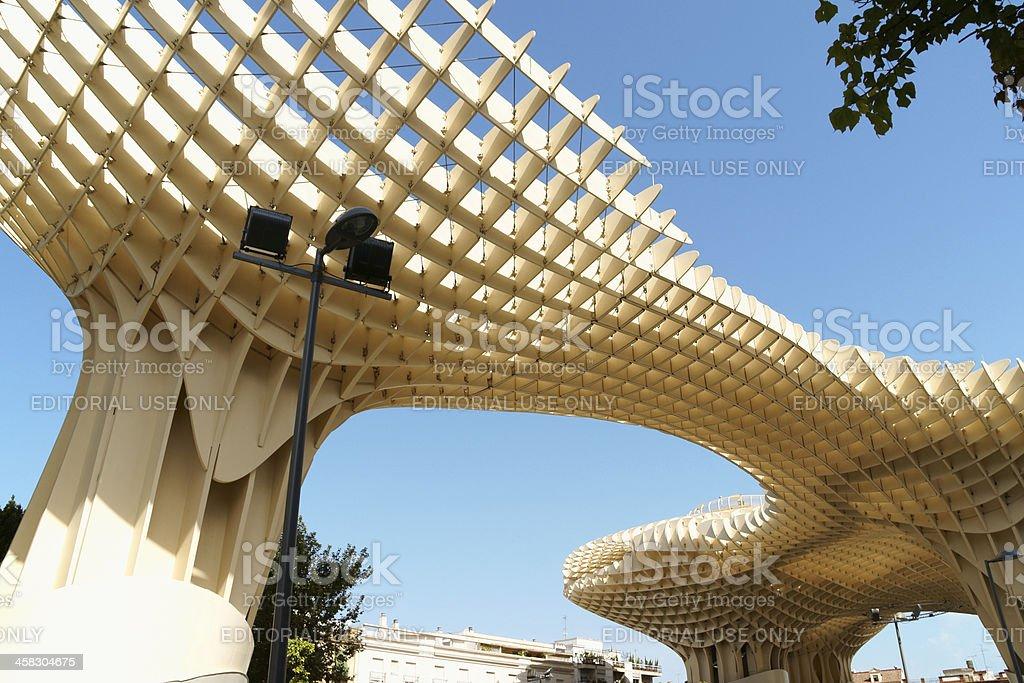Metropol Parasol in Seville, Spain royalty-free stock photo