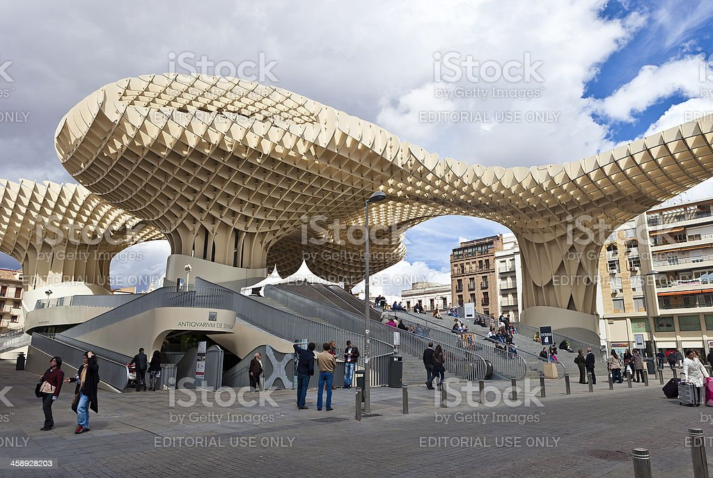 Metropol Parasol In Seville, Spain royalty-free stock photo