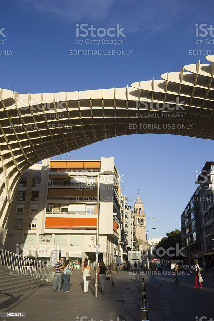 Metropol Parasol in Seville, Spain stock photo