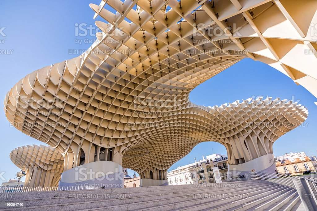 Metropol Parasol, modern architecture  in Seville stock photo
