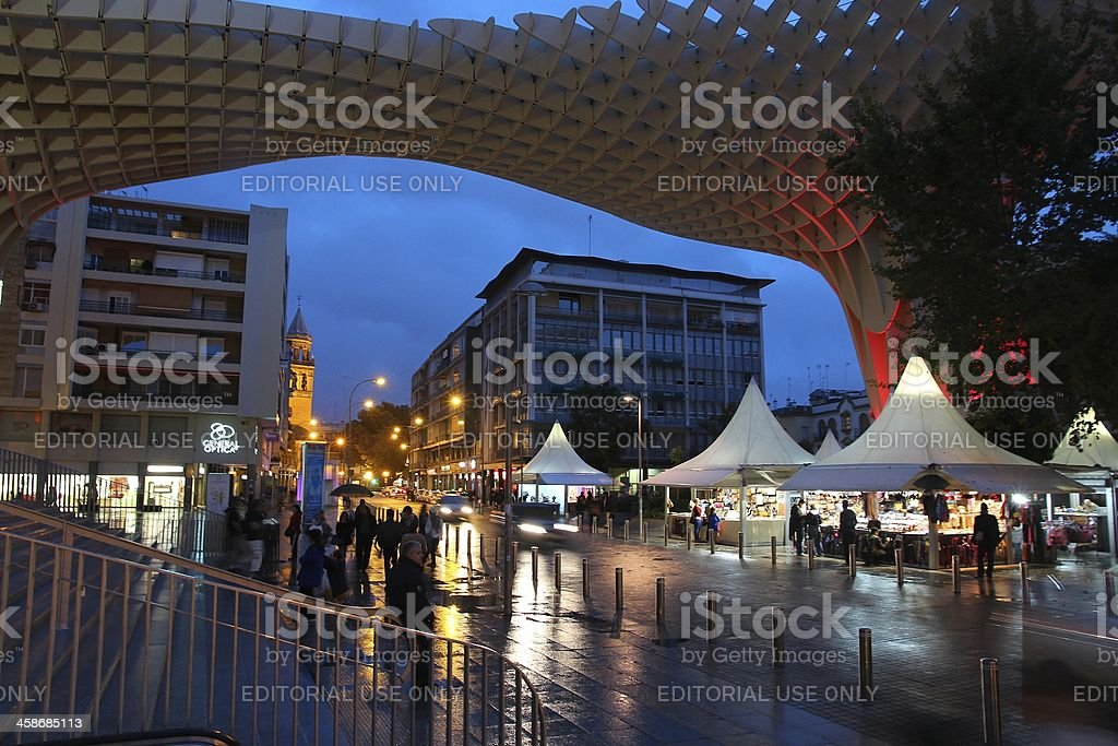 Metropol Parasol, Seville royalty-free stock photo
