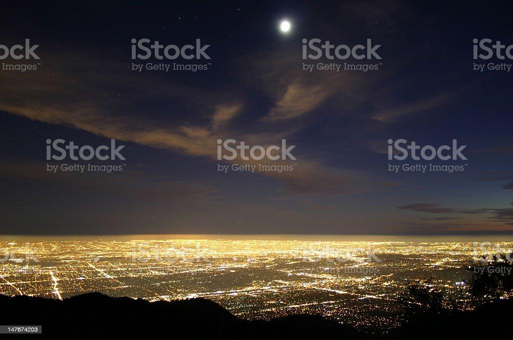metropolia at night stock photo