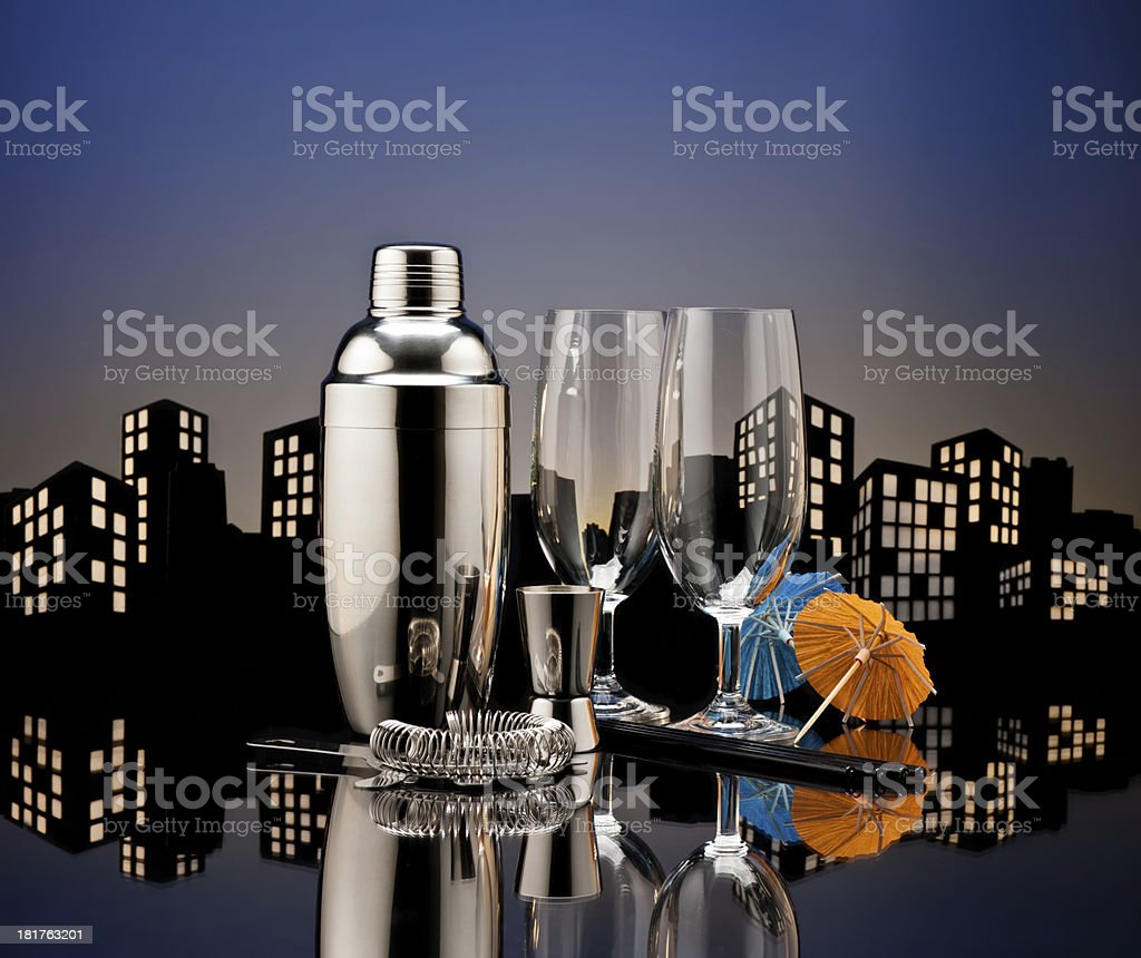 Metropolis Bartender tools royalty-free stock photo