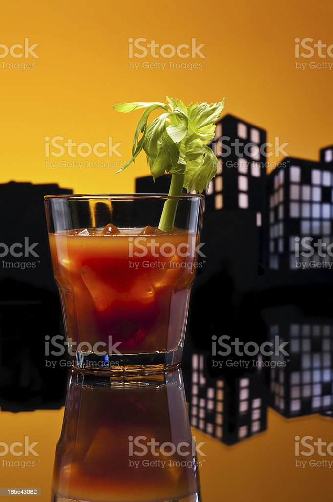 Metropolis Bloody Mary cocktail royalty-free stock photo