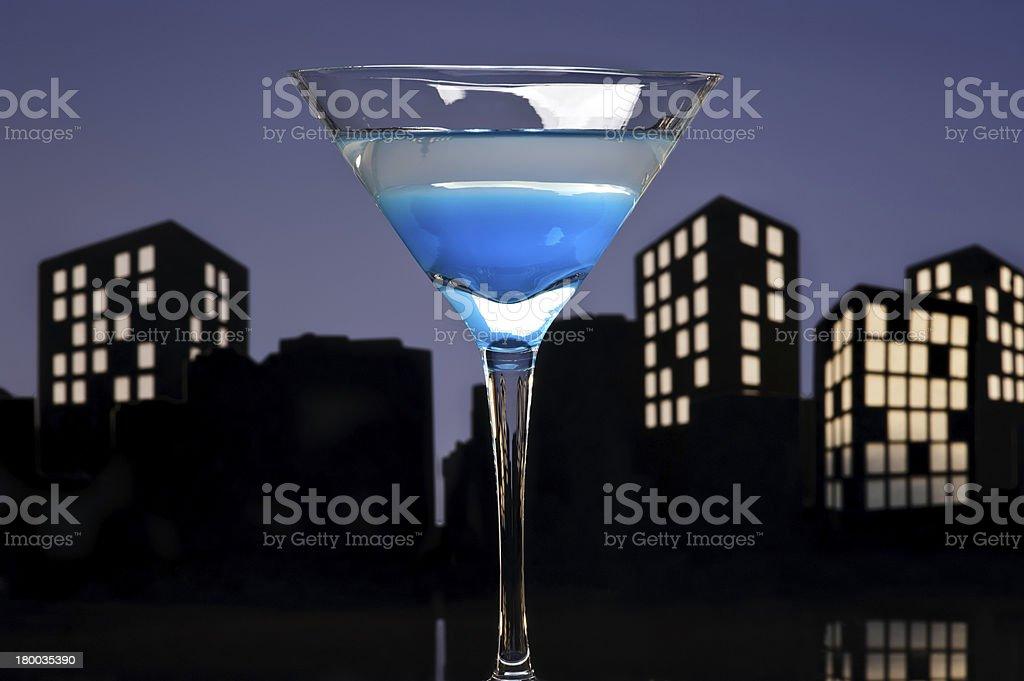 Metropolis Blue Martini royalty-free stock photo