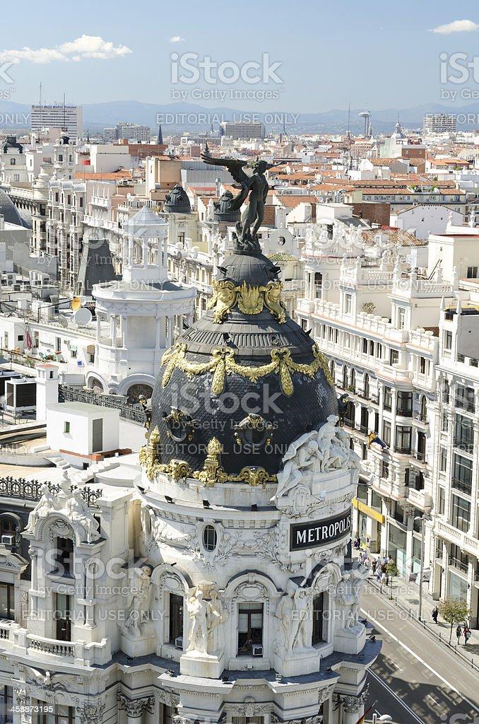 Metropolis building in Madrid royalty-free stock photo