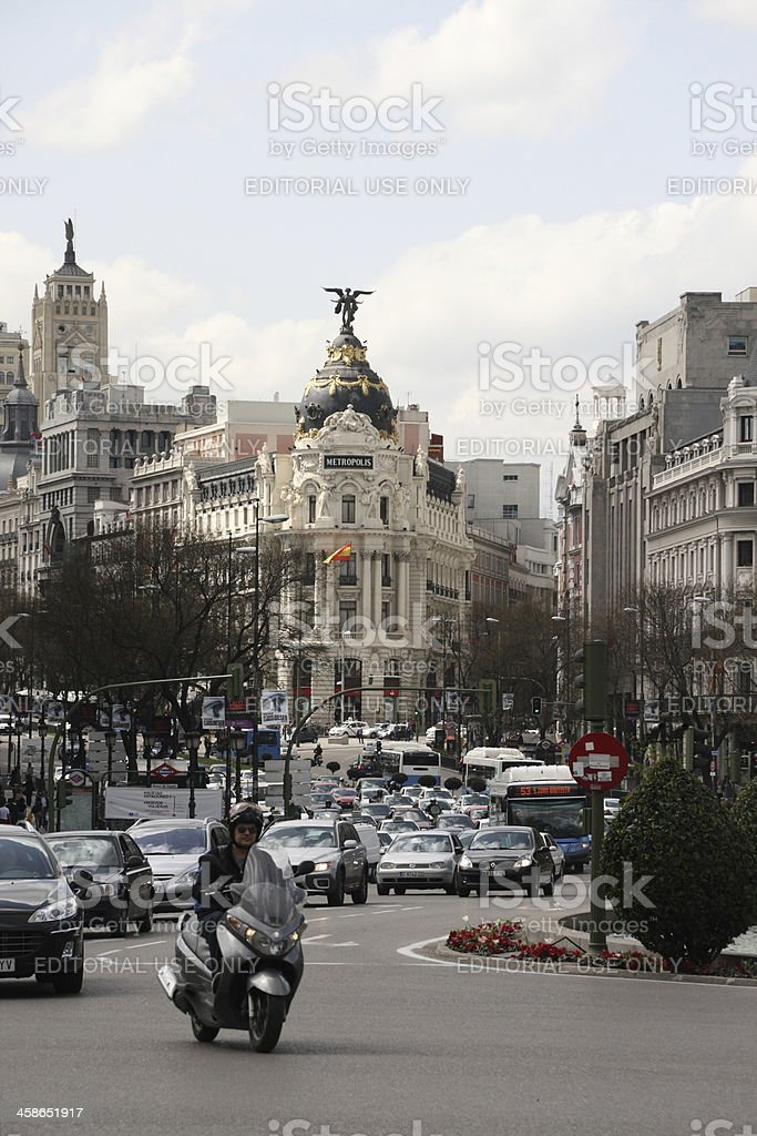 Metropolis Building, Madrid stock photo