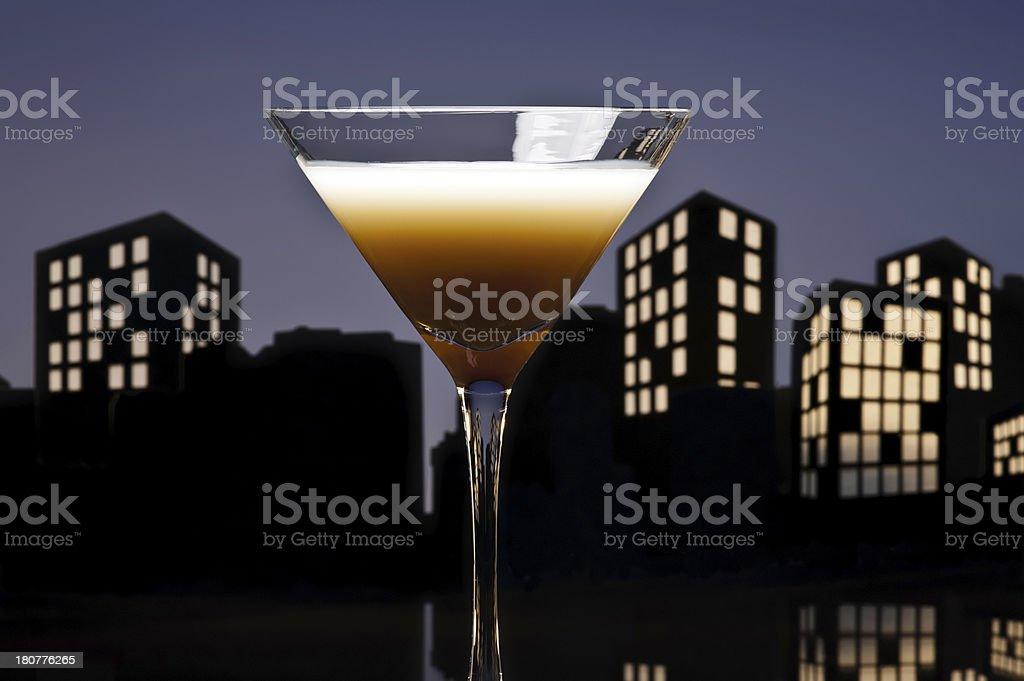 Metropolis Coffee Martini cocktail royalty-free stock photo