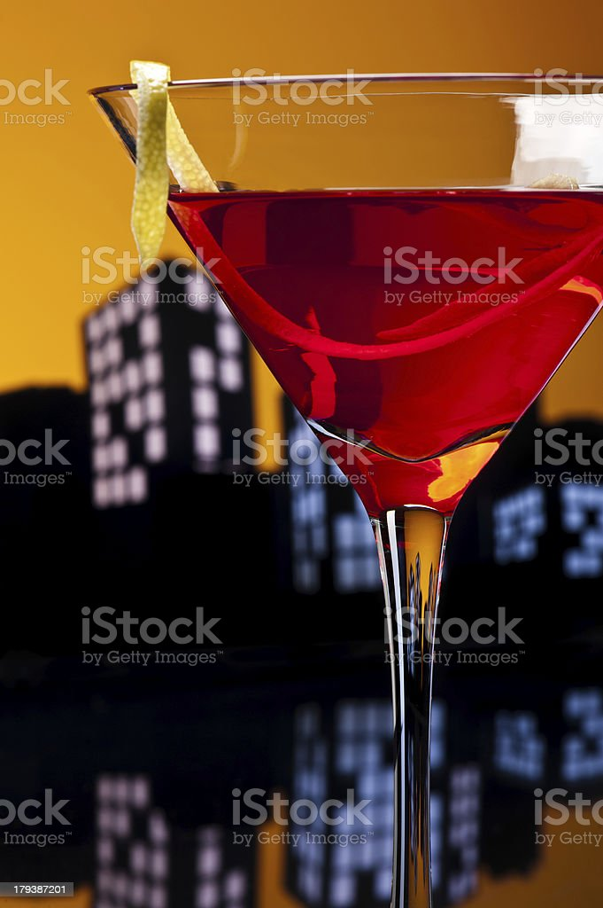 Metropolis Cosmopolitan Cocktail royalty-free stock photo
