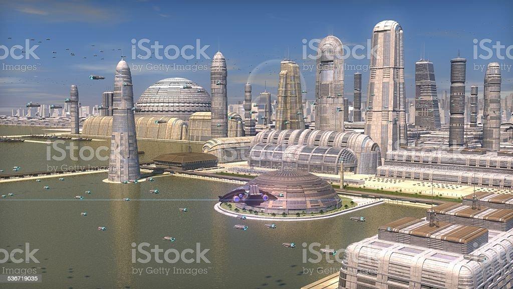 metropolis costera stock photo