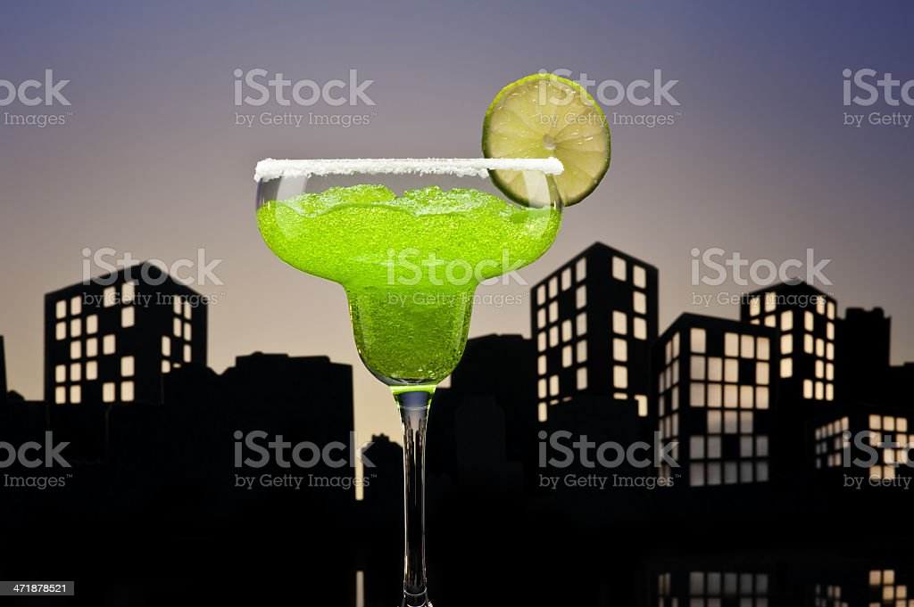 Metropolis green Margarita cocktail royalty-free stock photo