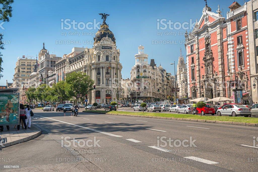 Metropolis, Madrid, Spain stock photo