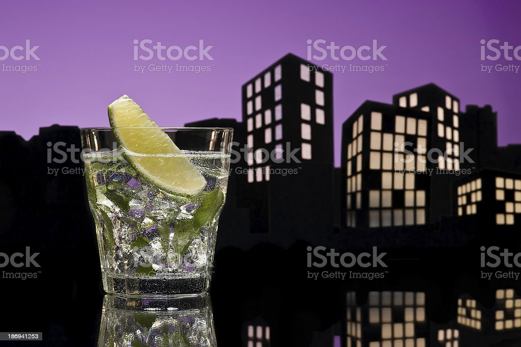 Metropolis Mojito cocktail royalty-free stock photo