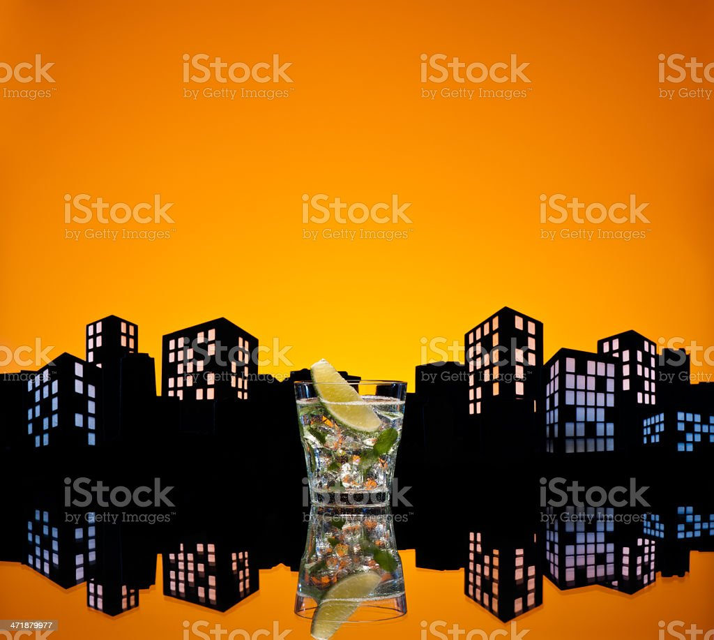 Metropolis Mojito cocktail royalty-free stock photo