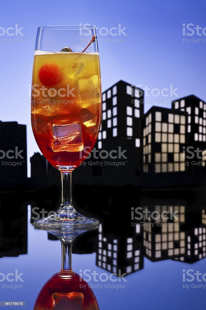 Metropolis Tequila Sunrise cocktail royalty-free stock photo
