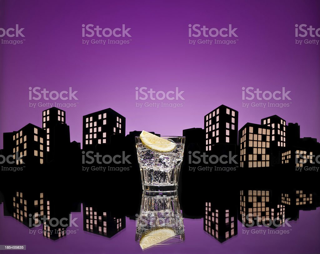 Metropolis Tom Collins cocktail royalty-free stock photo