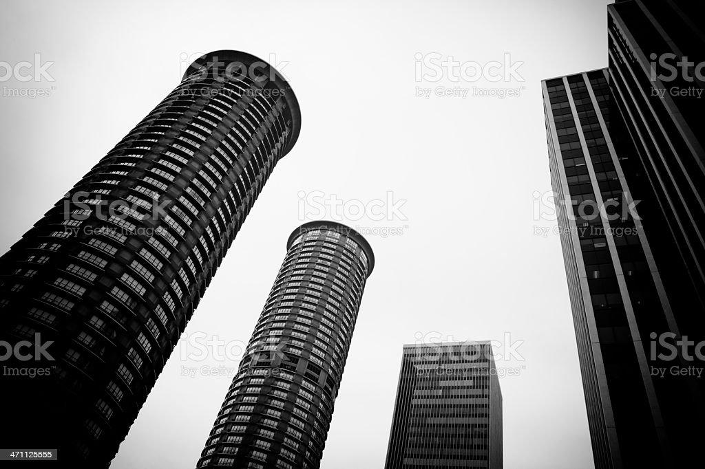 Metropolis Urban Skyscrapers royalty-free stock photo