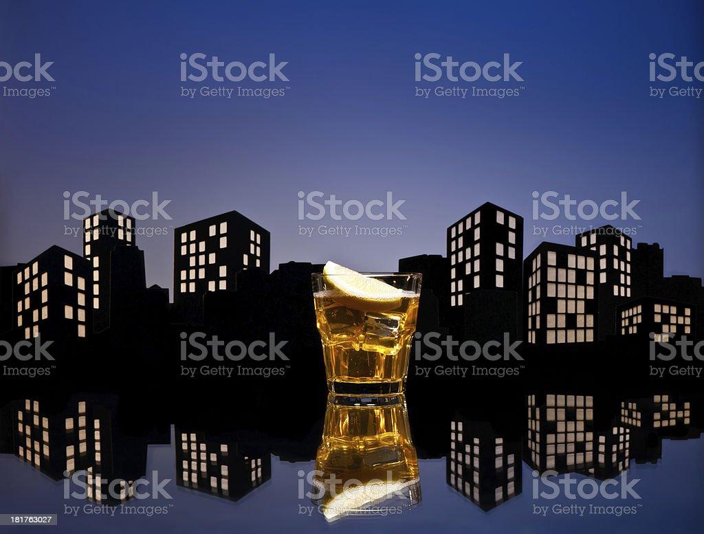 Metropolis Whisky sour cocktail royalty-free stock photo