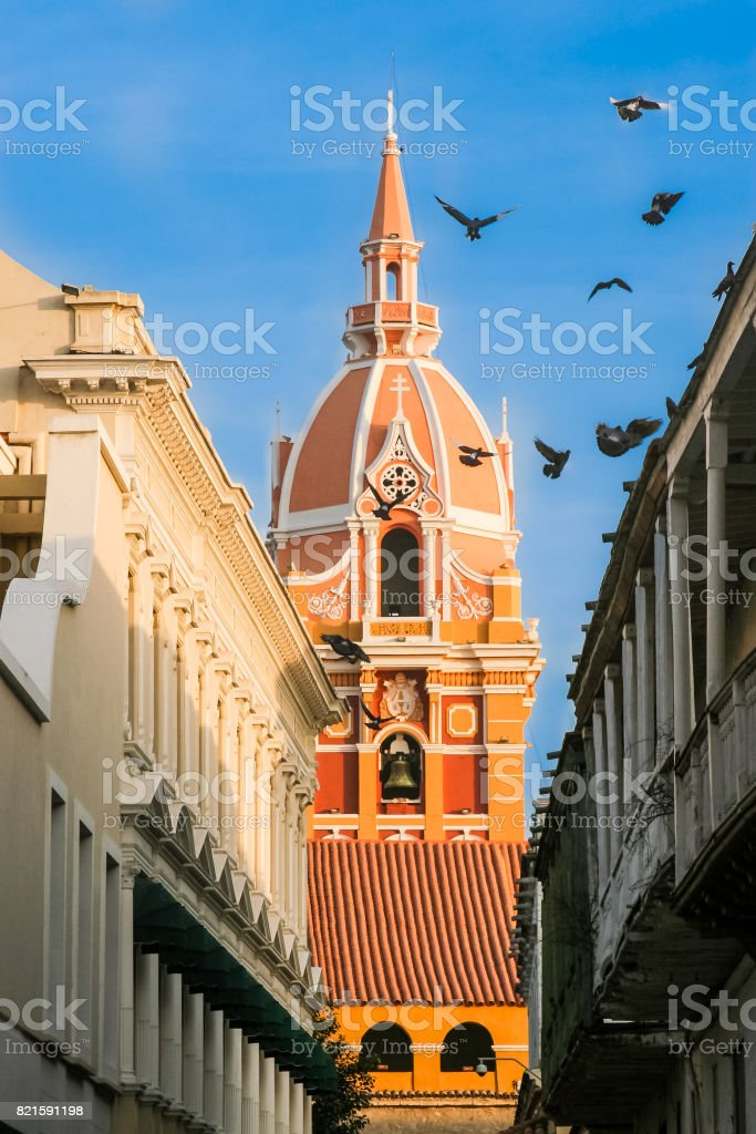Metropolitan Cathedral at Cartagena de Indias stock photo