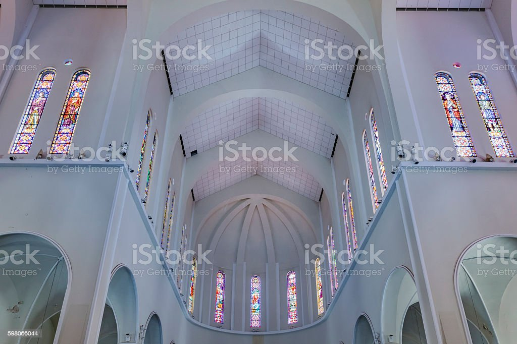 Metropolitan Cathedral Fortaleza Brazil stock photo