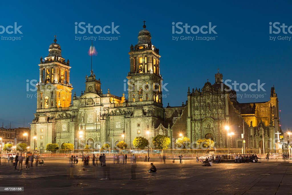Metropolitan Cathedral In Mexico City, Mexico stock photo