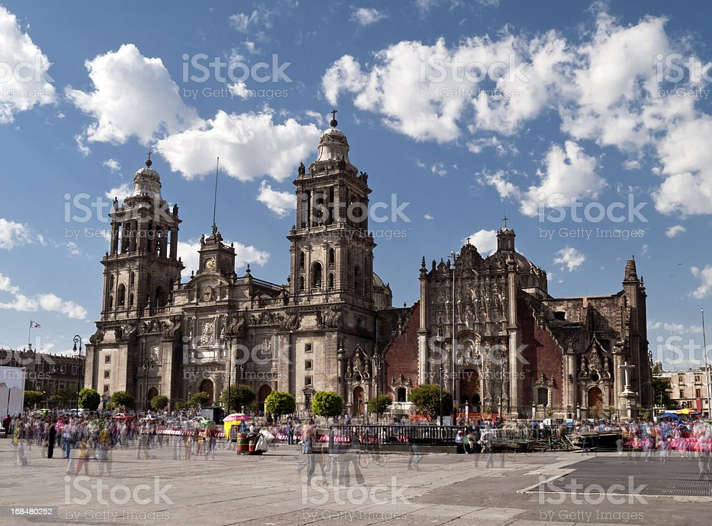 Catedral Metropolitana, Mexico City stock photo