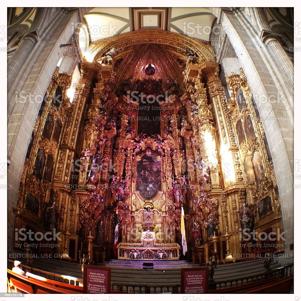 Catedral Metropolitana Mexico stock photo