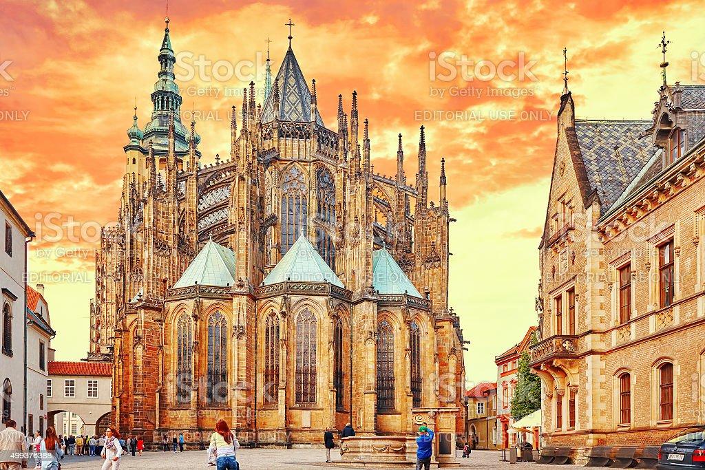 Metropolitan Cathedral of Saints Vitus stock photo