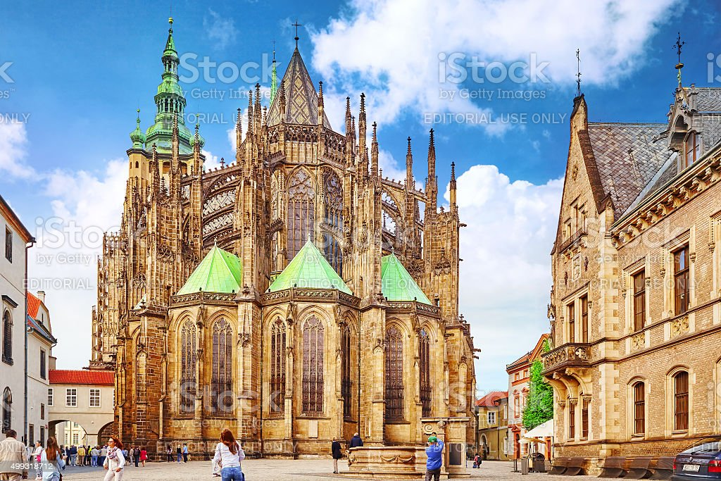 Metropolitan Cathedral of Saints Vitus, Prague. stock photo