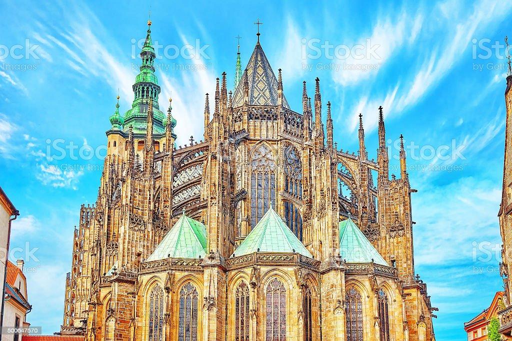 Metropolitan Cathedral of Saints Vitus, Wenceslaus and Adalbert. stock photo