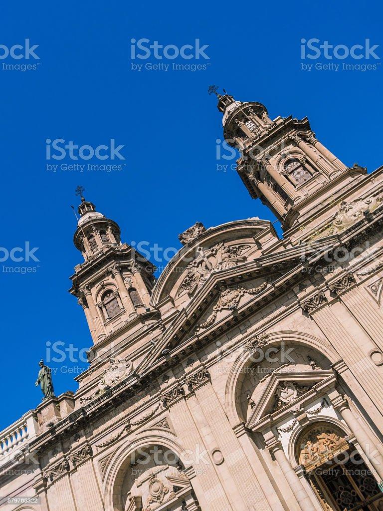 Metropolitan Cathedral of Santiago stock photo