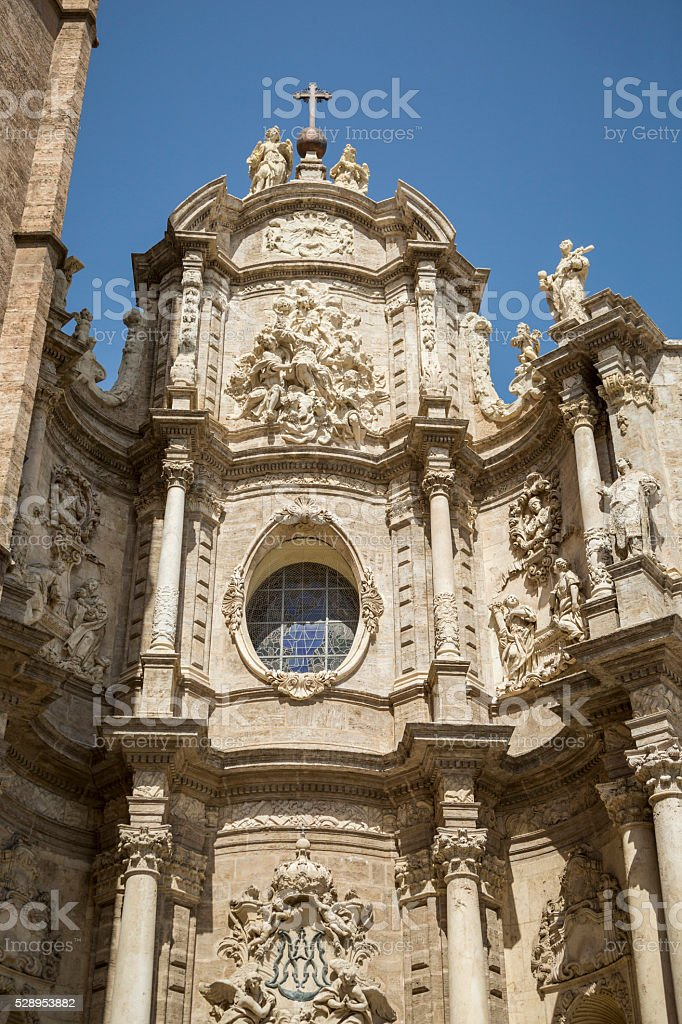 Metropolitan Cathedral of the Assumption of Our Lady of Valencia stock photo