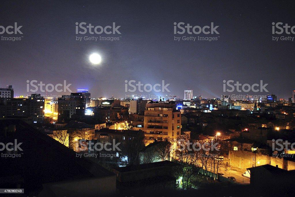Metropolitan City Night View royalty-free stock photo