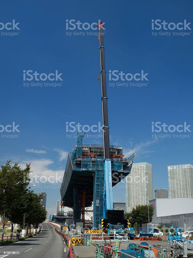 Metropolitan Expressway construction work stock photo