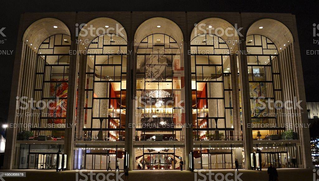 Metropolitan Opera House (Lincoln Center) at Night stock photo