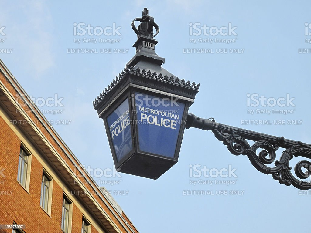 Metropolitan Police Light royalty-free stock photo
