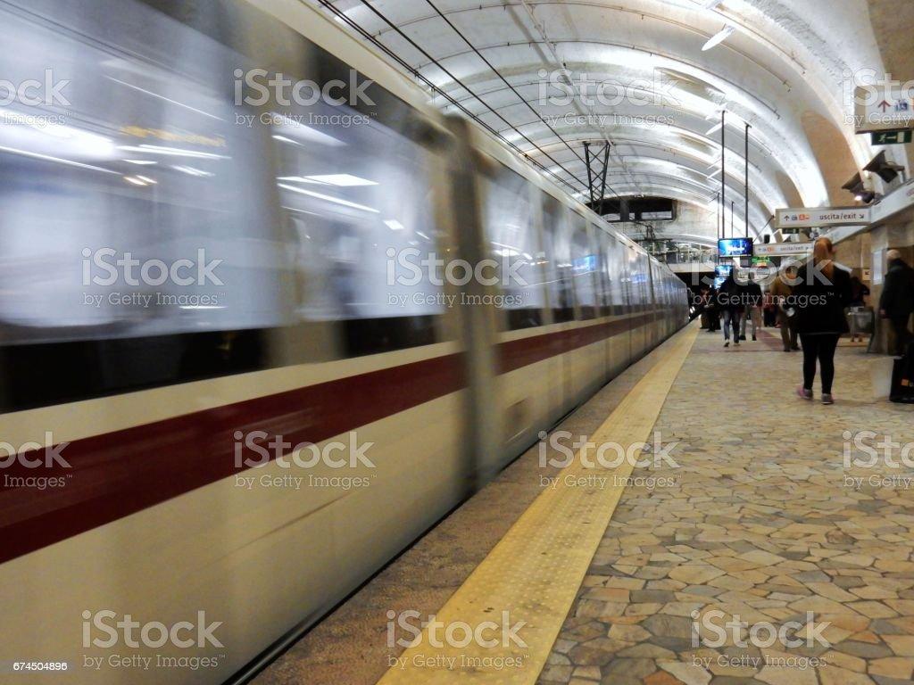 Metropolitana di Roma Termini stock photo