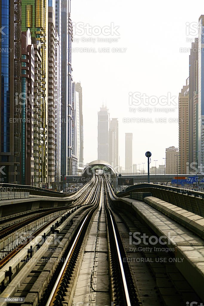 Metrostation in Dubai royalty-free stock photo