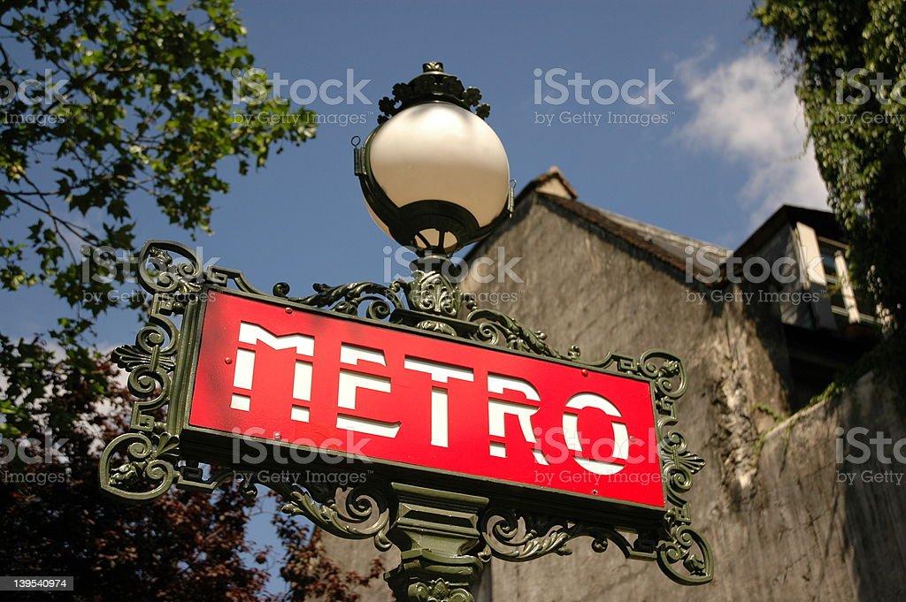 Metrostation Saint SSulpice stock photo