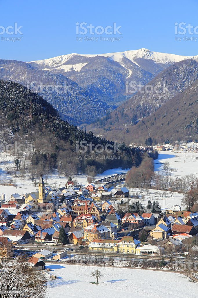 Metzeral, tourist village in the Vosges stock photo