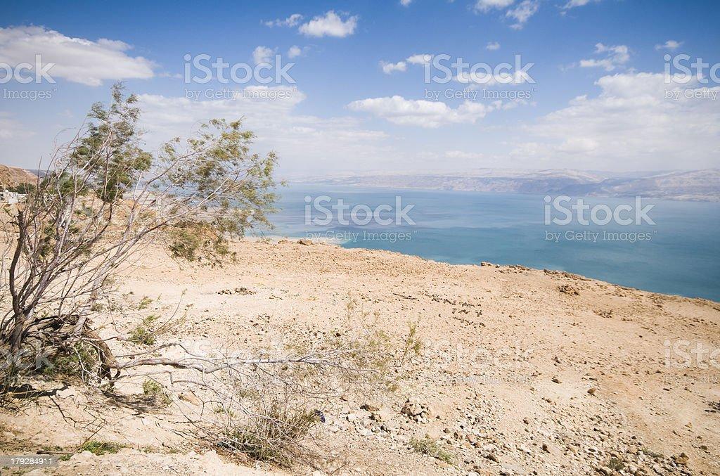 Metzoke Dragot above the dead sea, Israel royalty-free stock photo